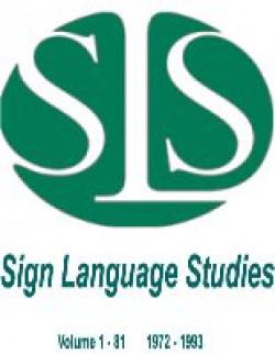 USA: Sign Language Studies, 1972 - 1993